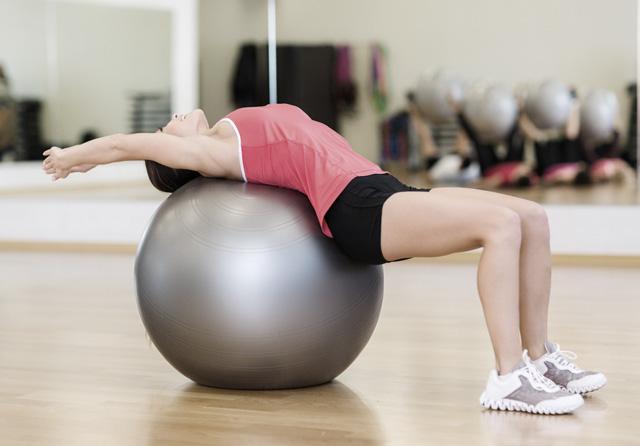 Pilates med boll